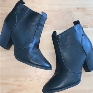 H&M Leather Zip Boots
